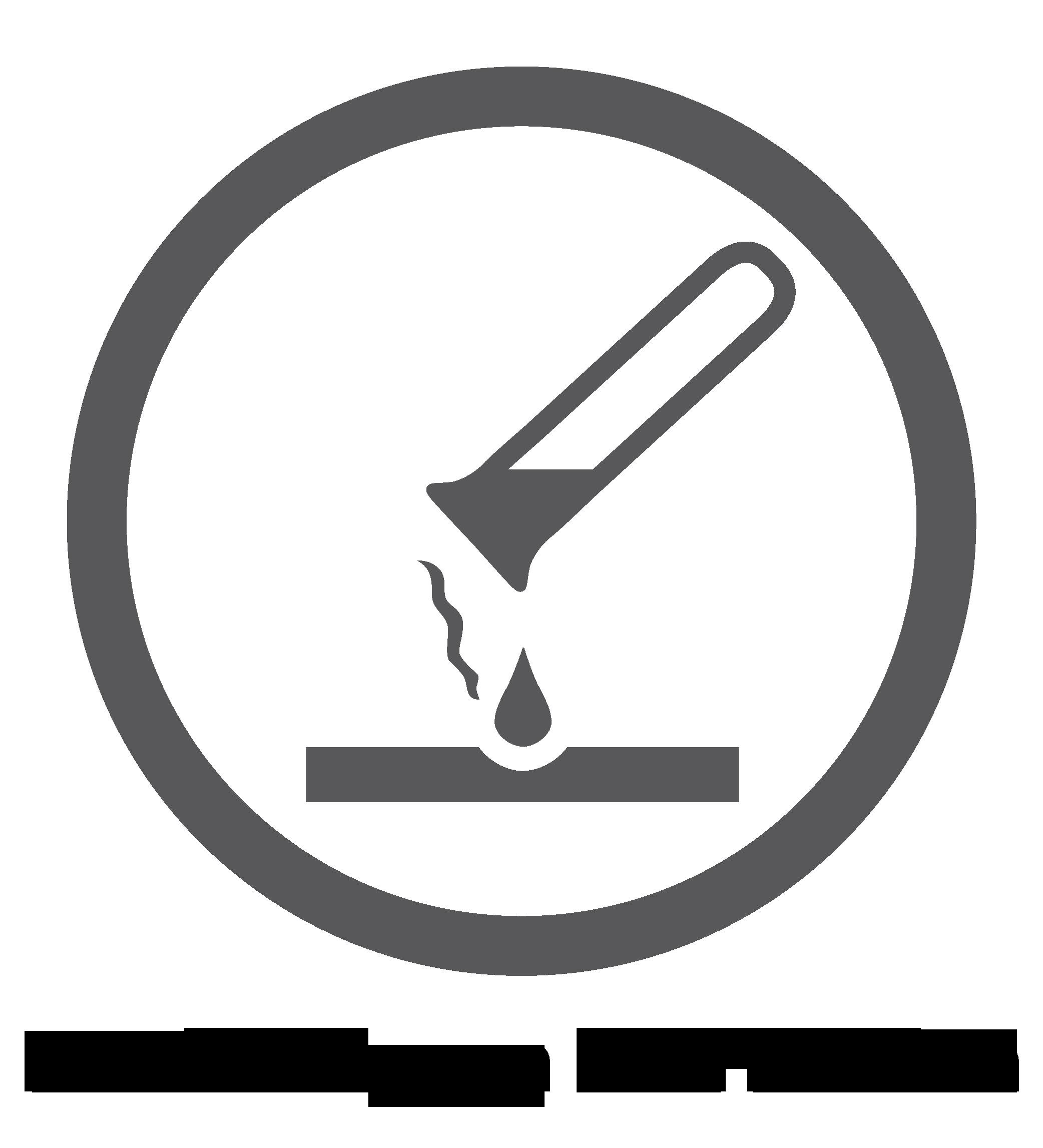 Logo van chemicaliënbestendig oppervlak