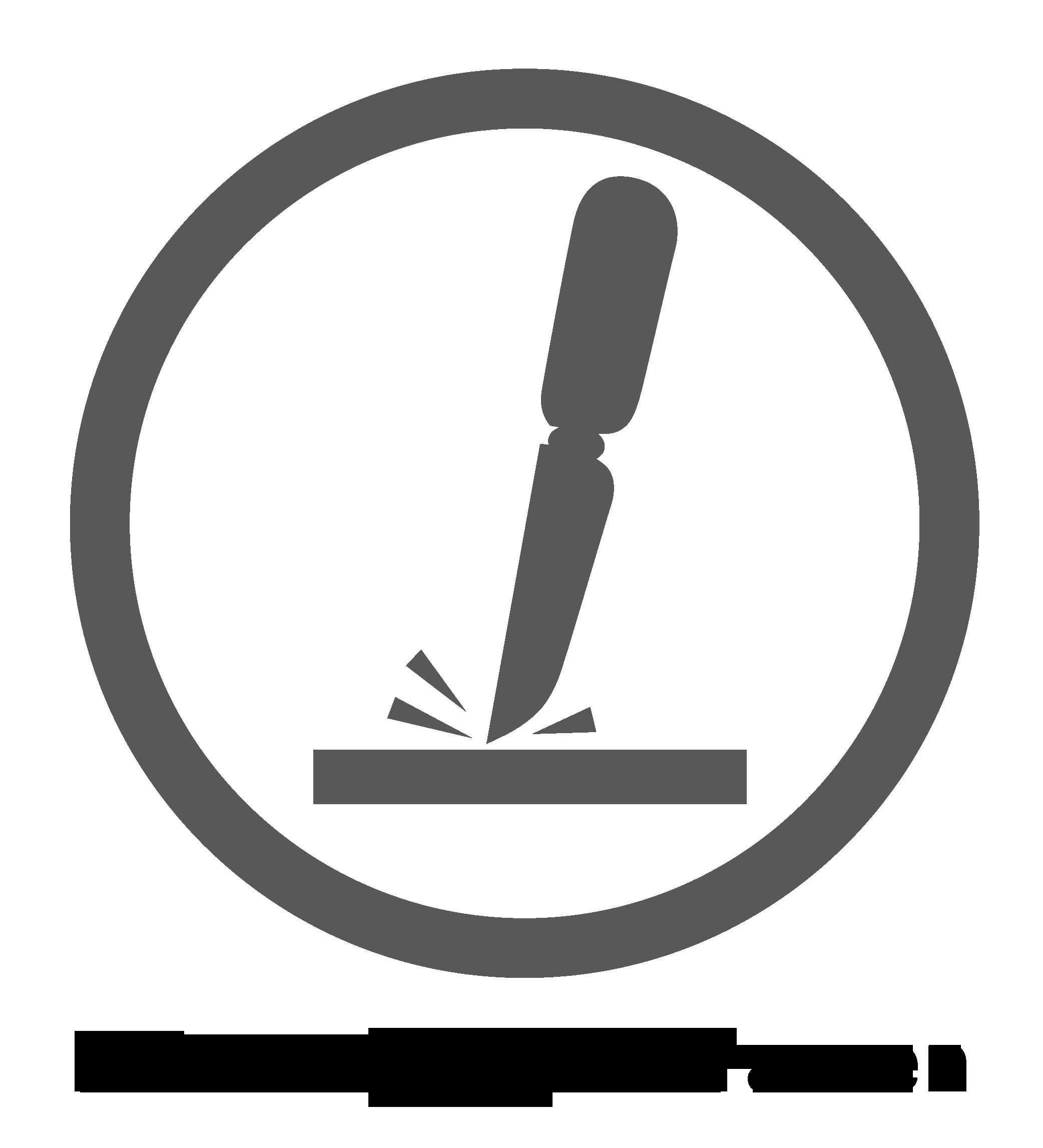 Logo van krasbestendig oppervlak
